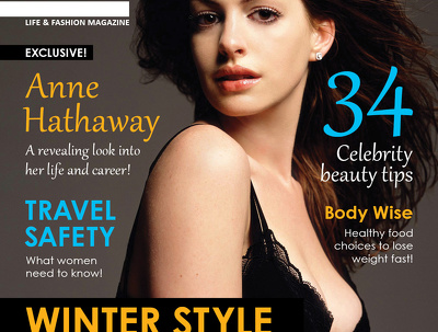 Professional Magazine + Cover Design + Unlimited Revision + Two Pages + Artwork Files