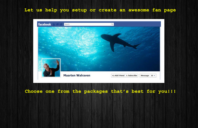 set up or create an AWESOME Fan Page