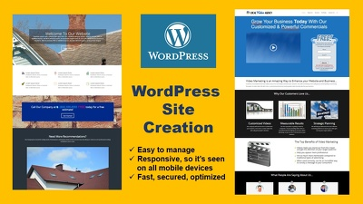 Create an awesome 5 page Wordpress Website from scratch