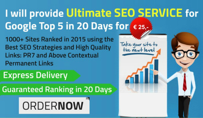 Do ultimate SEO service for page 1 rankings in 5 days