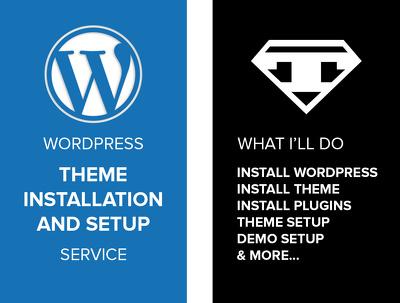 WordPress theme installation & setup service