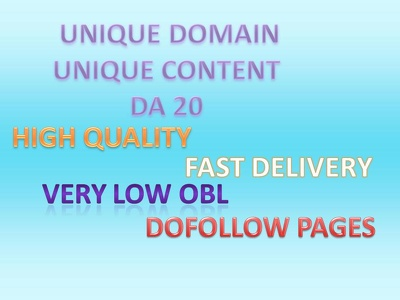Give you 20 links DA 20 with unique comments all done manually