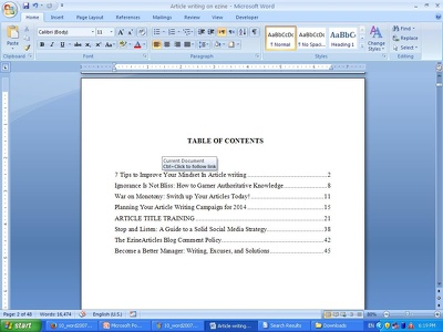Format your Ms Word document upto 25 pages