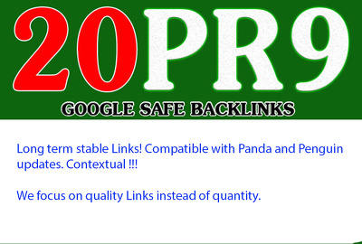 Build 20 PR9 + bonus high page rank SEO baclinks from APPLE, YAHOO, Adobe