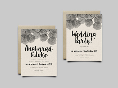 Design you a beautiful and unique wedding invitation