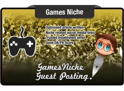 Write and Guest Post on a Games Niche Site to Power your SEO