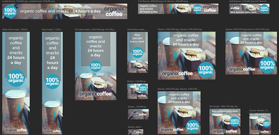 Create a set of 30 web banners for all your online advertising needs