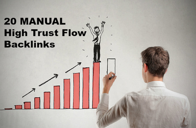 Do 20 MANUAL High Trust Flow Backlinks