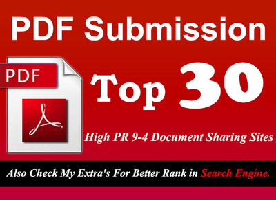 Do PDF Submission manually to 32 PR9 - PR4 doc sharing sites