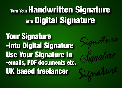 Turn your Handwritten Signature into Digital Signature