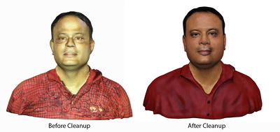 Clean up your 3D Scanned file for getting it 3D printing