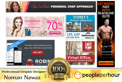 Design Professional Web Banner, Header and FB Ads
