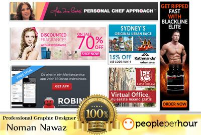 Design Professional Web Banner, Header and FB Ads
