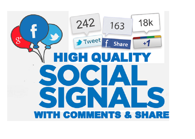 Do High Quality Social Signals Juice with Manual Соmments and Shares