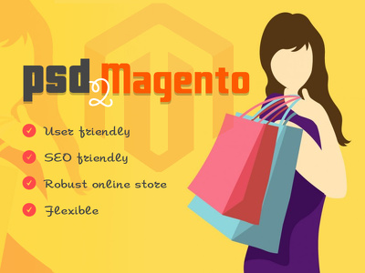 Convert your PSD to fully functional responsive Magento Website