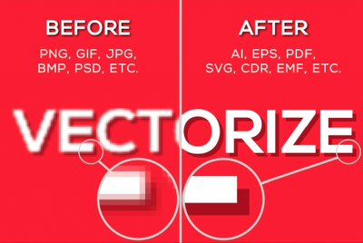 Convert your logo to vector (Vectorization, Tracing, Redraw)