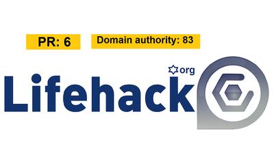 Publish Guest post on Lifehack.org- A PR6 DA83 Famous Website