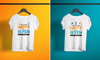 Design your fantastic T-shirt mockup