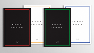 Design short simple brochure, book, catalog in elegant, modern, minimal, clean style