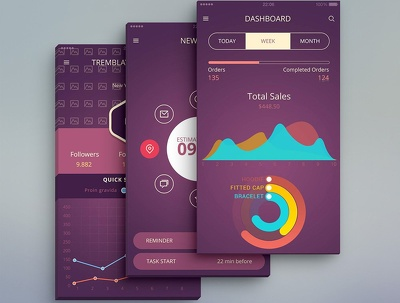 Design professional  UI / UX For Android / iOS  (7 Screens)