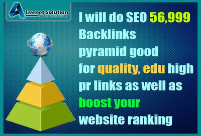 SEO 56,999 Backlinks Good for Quality, Edu High PR and Google SEO Safe Link Building