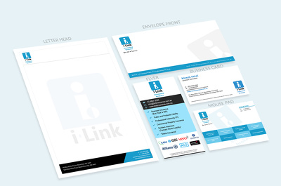 Design your corporate identity (logo, business card, envelop)
