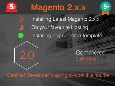 Install Magento 2 Latest Version on your hosting and Install selected template