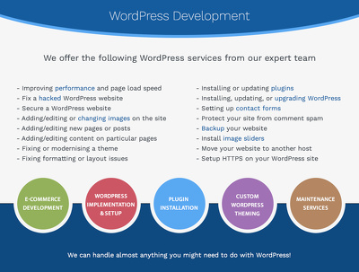 Update, add features and solve problems with a WordPress site