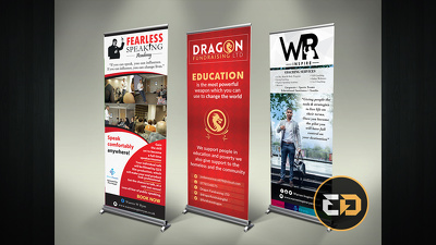 Design your professional Roller Banner or Pop-up Stand delivered in 24 hours or less