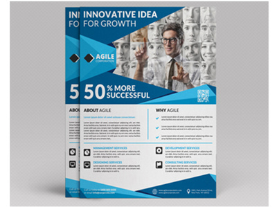 Design a professional brochure, trifold flyer, poster or postcard