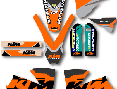 Provide any MX Motocross or ATV (quad) Graphic Template Kit EPS file 100% Scaled
