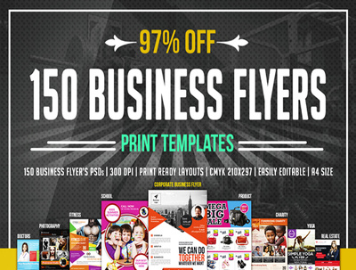Send you 50 to 300 Flyer templates Mix templates with PSD Editable files
