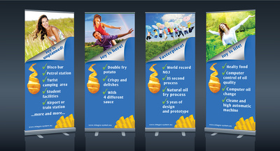 Design a pull up / roll up banner.