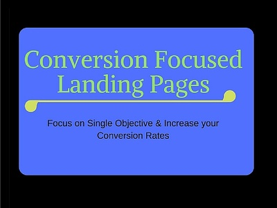 Create a Landing Page or Squeeze Page for your advertisement campaigns