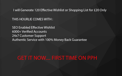 Generate 120 Effective Wishlist or shopping List