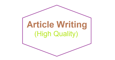 Write 400/500 words Article or Blog post (high quality & seo optimized)