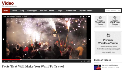 Add a responsive youtube/vimeo video or video background in your website