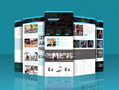 "Deliver a ""FITNESS ZONE"" Gym related multiple website with responsive website design."