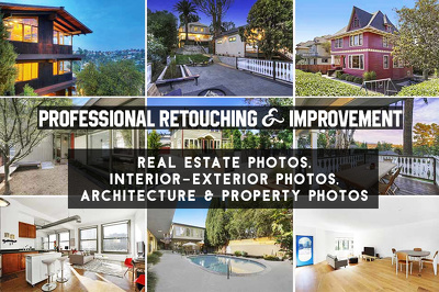 retouch 5 real estate/interior design photographs