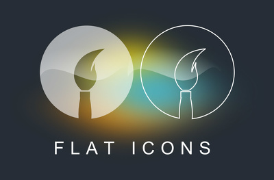 Design 10 flat icons