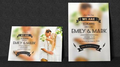 Design your Beautiful Wedding Postcard