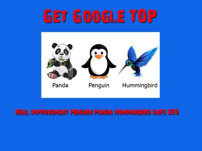 Get Google Ranking Boost, Real Improvement Penguin, Panda & Hummingbird Safe SEO