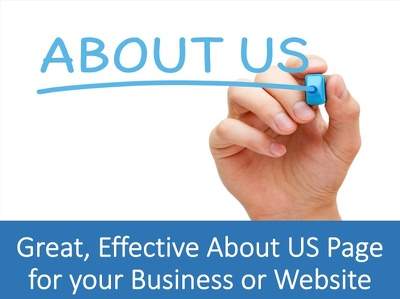 write a Great and Effective About us Page for your Business or Website