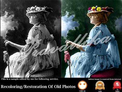 Recoloring/Restoration Of Old Photo