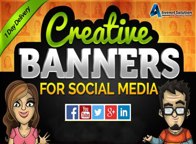 Get Creative Banner Designs for Google Adwords Ads OR SMO Cover Page