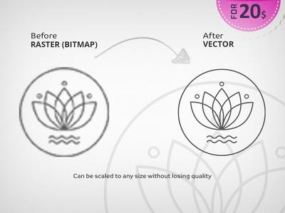 Convert & Redraw your logo to a high resolution vector format (100% same original)