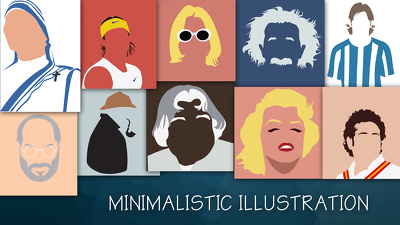 Illustrate minimalist art