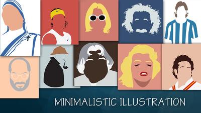 Illustrate minimalist art