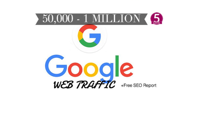 Give you 50k to 1million google and adsense Safe traffic (Real Visitors only -no Bot)