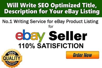 Write SEO Optimised Titel,Description for Your eBay Listing